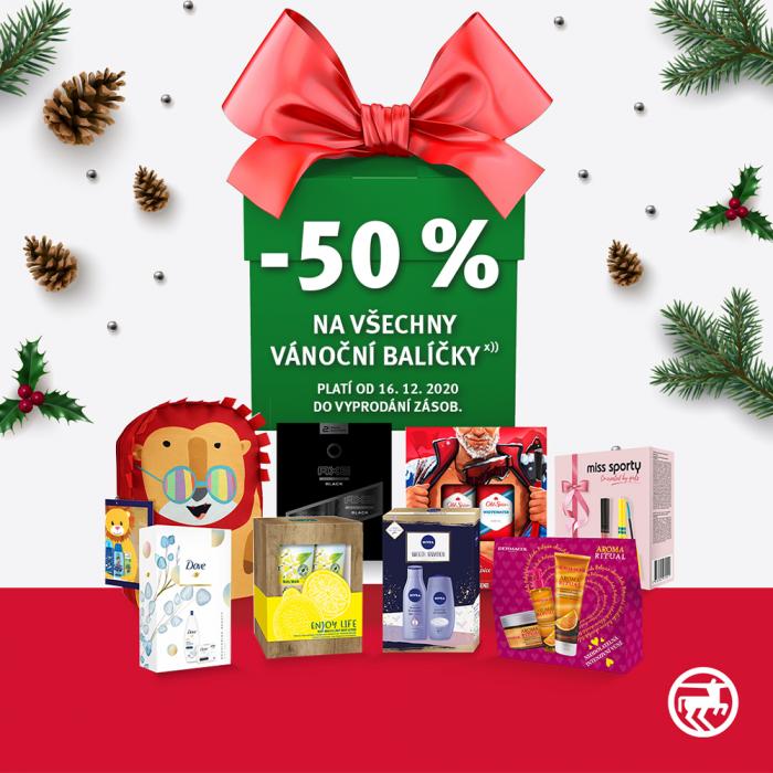 Akce -50 % na všechny vánoční balíčky