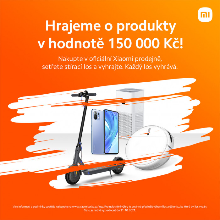 Nakupte v Xiaomi prodejně, setřete stírací los a vyhrajte !